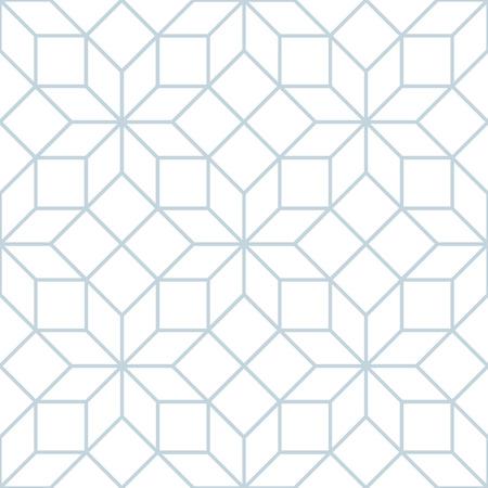 Vector seamless soft white geometric tracery pattern Ilustração