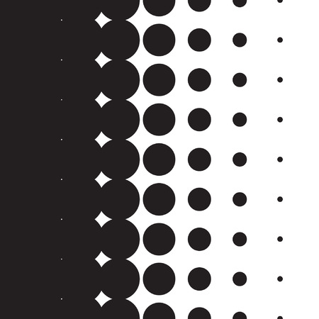 Halftone dots pattern gradient set in vector format Imagens - 42613998