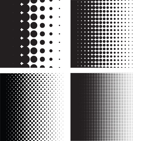 dots pattern: Halftone dots pattern gradient set in vector format
