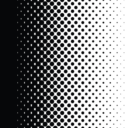 Halftone dots pattern gradient set in vector format