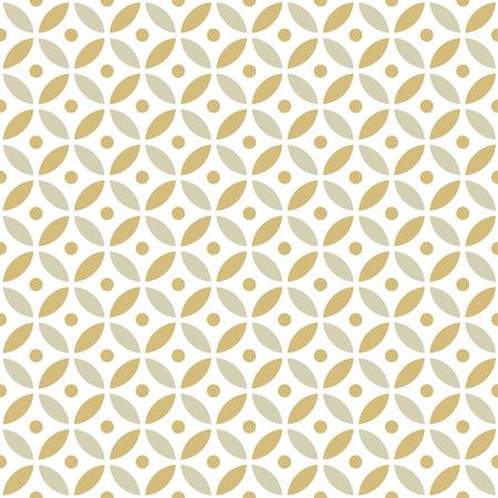 intersecting: Seamless Intersecting Geometric Vintage Gold Circle Pattern Illustration