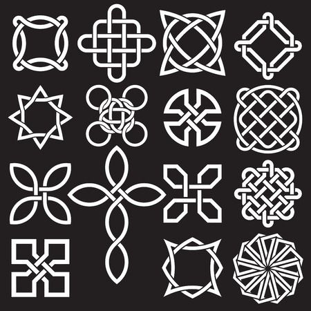 rope folk: Celtic Knots in Vector Editable Format