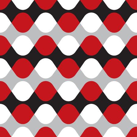 intersect: eamless geometric vibrating vector dot pattern