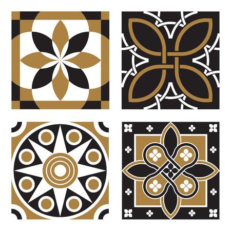 tile pattern: Vintage Ornamental Patterns Illustration
