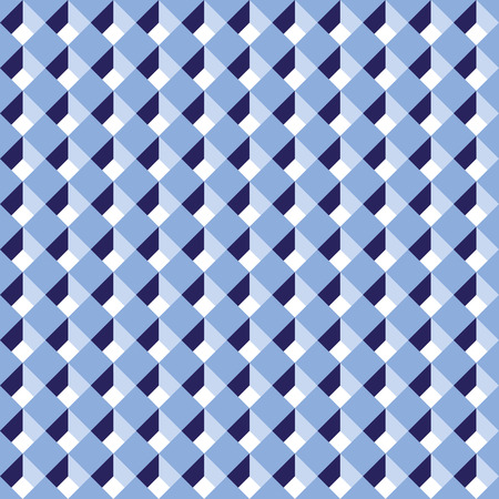 Seamless diagonal blue abstract cube pattern background Illustration