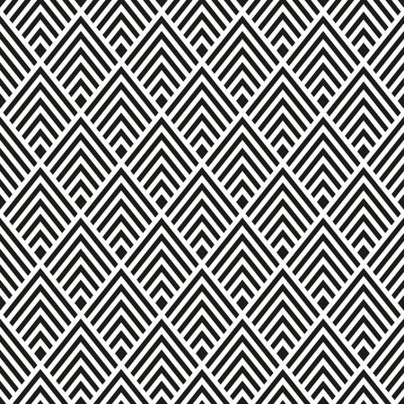 Abstract Seamless Black and White Art Deco Vector Pattern Vector Illustration