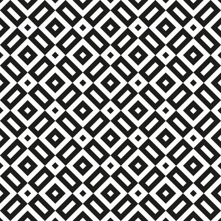 Seamless abstract black and white geometric pattern