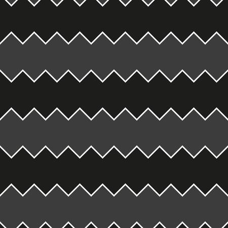 Seamless black and white sawtooth zig-zag pattern background Illustration