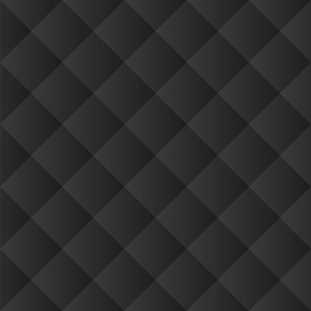 Seamless black padded upholstery vector pattern texture Illustration
