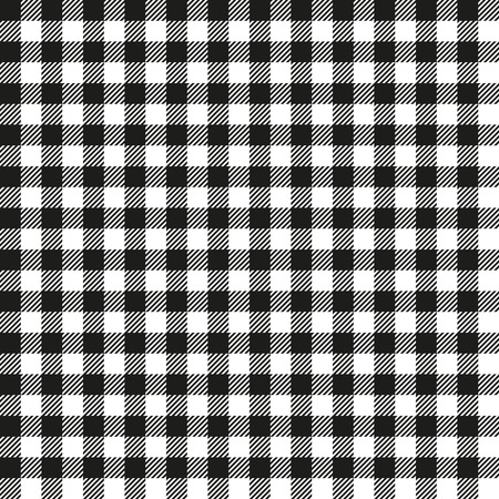Seamless Coarse Black Checkered Plaid Fabric Pattern Texture