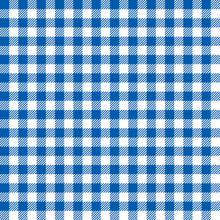 Seamless Coarse Blue Checkered Plaid Fabric Pattern Texture
