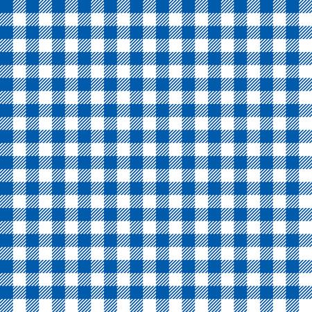 Seamless Coarse Blue Checkered Plaid Fabric Pattern Texture
