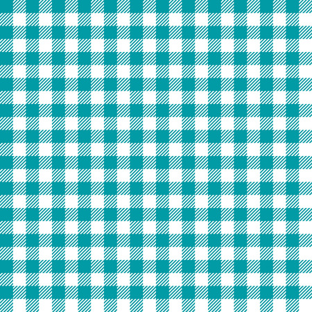 Seamless Coarse Turquoise Checkered Plaid Fabric Pattern Texture