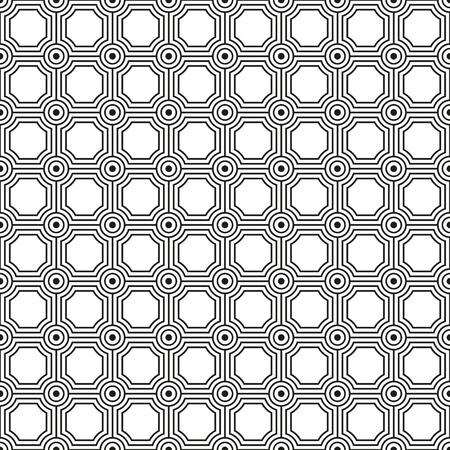 Seamless art deco circle link pattern texture background Illustration
