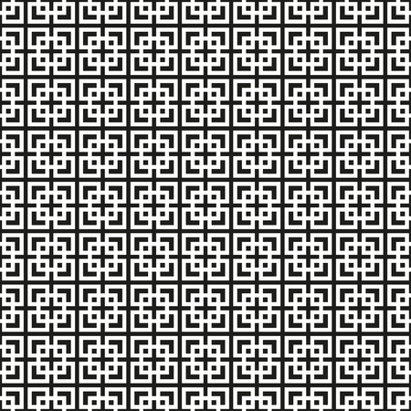 Seamless Black and White Art Deco Vector Pattern
