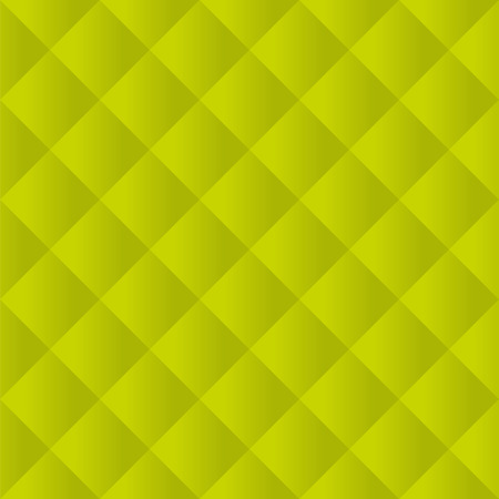 padding: Seamless lime green padded upholstery vector pattern texture