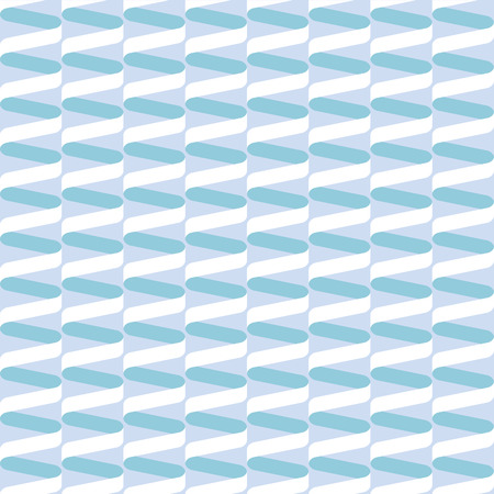 Seamless spiral ribbon wave pattern in pastel blue and green Illustration
