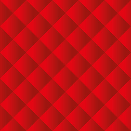 Seamless red padded upholstery vector pattern texture