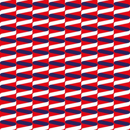 흰색 빨간색과 파란색 원활한 나선형 리본 물결 무늬 스톡 콘텐츠 - 42315217