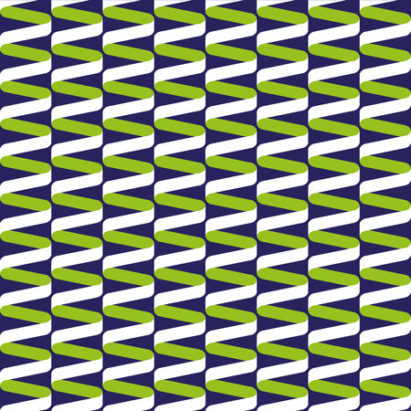 Seamless spiral ribbon wave pattern in blue and green