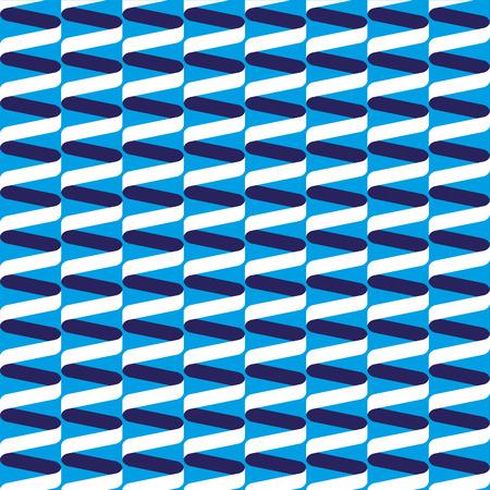 Seamless spiral ribbon wave pattern in blue