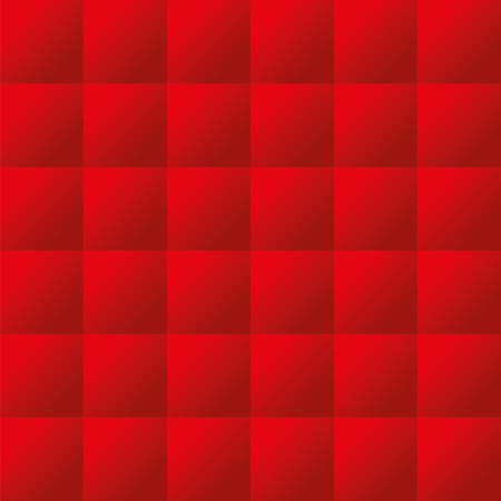 padding: Seamless red padded upholstery vector pattern texture