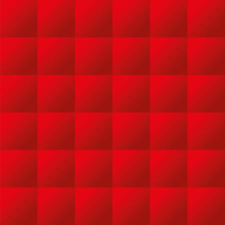 acolchado: Seamless rojo tapicer�a acolchada vector patr�n textura