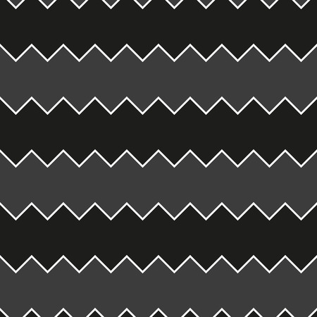 undulating: Seamless black and white sawtooth zig-zag pattern background Illustration
