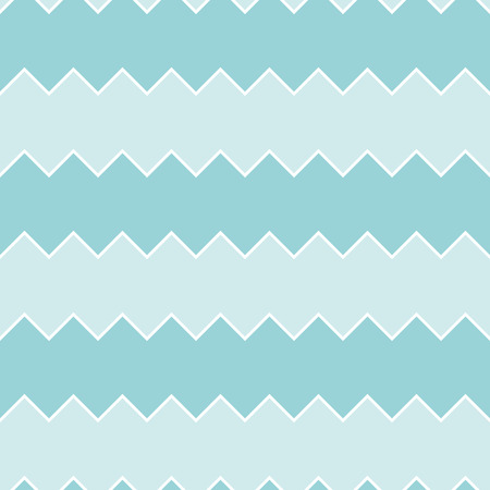 undulating: Seamless turquoise sawtooth zig-zag pattern background Illustration