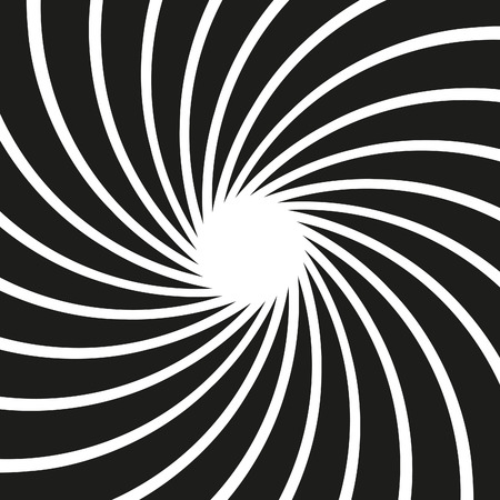 disappearing point: Vector Op Art Swirl Background