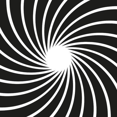Vector Op Art Swirl Background