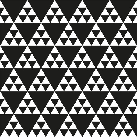 Seamless vector triangle pattern background Illustration