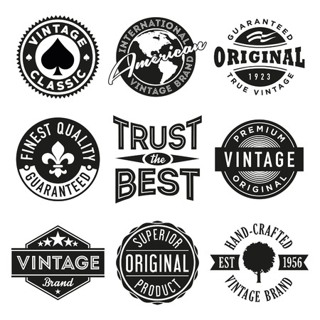 stamp collection: Vector Set of Vintage Labels