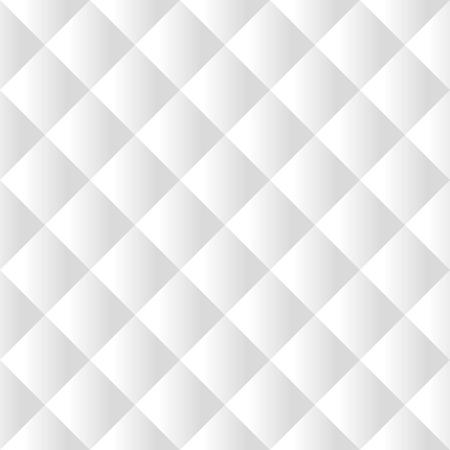Naadloze witte gewatteerde bekleding vector patroon textuur