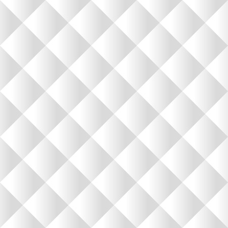 Seamless white padded upholstery vector pattern texture