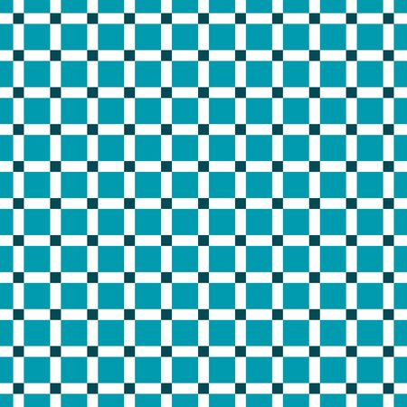 Seamless Teal Check Pattern 일러스트