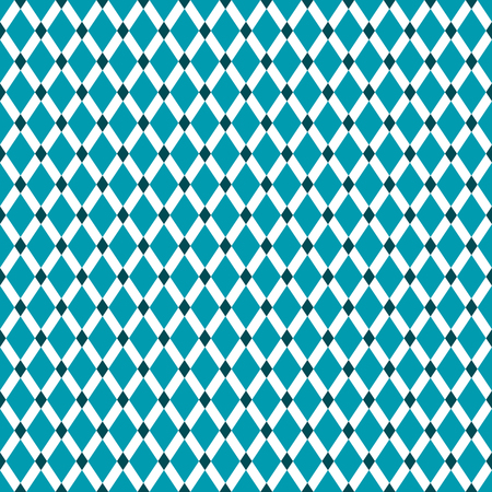 Seamless Teal Diamond Pattern