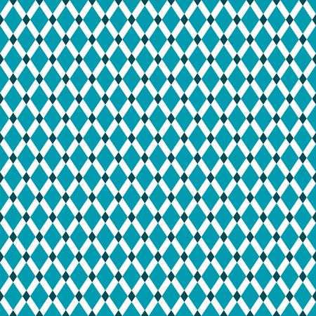 Seamless Teal Diamond Pattern