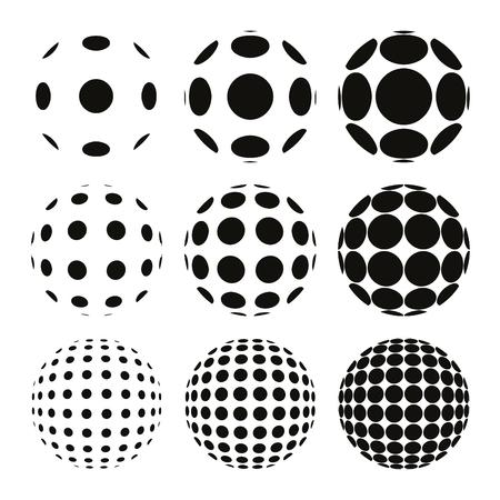 Op Art Fish Eye Lens Effects Collection Standard-Bild - 114431941