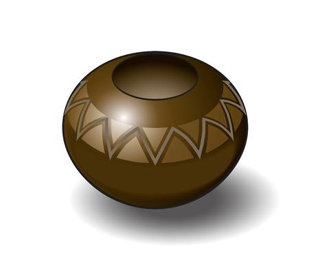 zulu: Isometric Vector Illustration of a Zulu Pot
