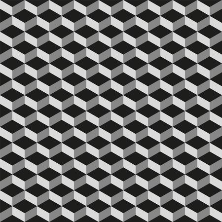 parallelogram: Seamless 3d vector geometric cube pattern