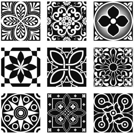 fleurdelis: Vintage Ornamental Patterns in Black and White.