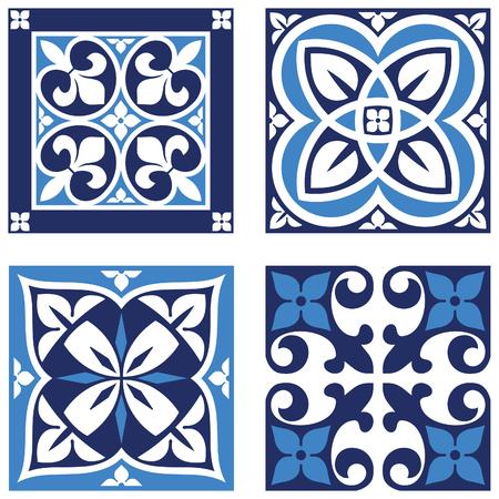 lys: Vintage Ornamental Pattern in tones of blue.