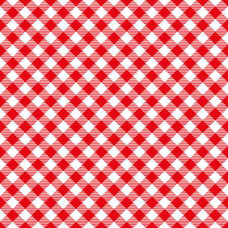 Seamless Red Checkered Plaid Fabric Pattern Texture