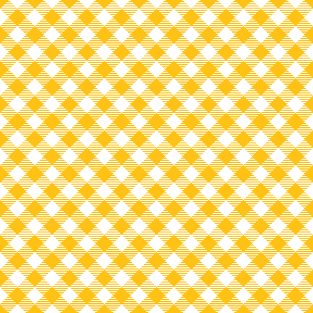 Seamless Yellow Checkered Plaid Fabric Pattern Texture