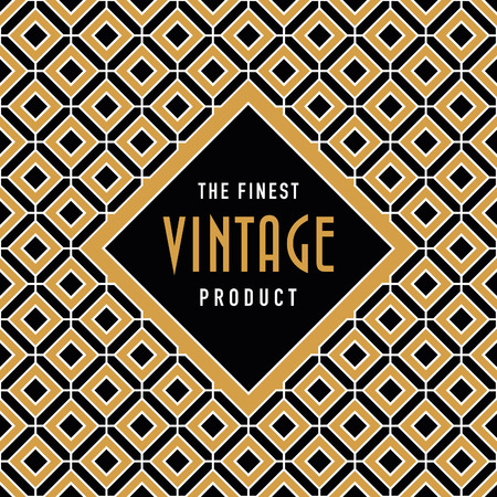 woven label: Vintage label on seamless vintage background texture pattern