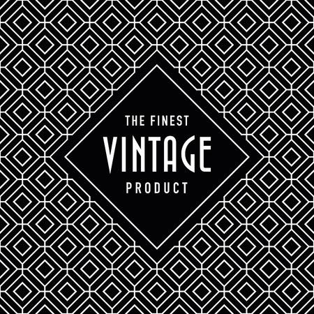 woven label: Vintage label on seamless vintage background texture pattern