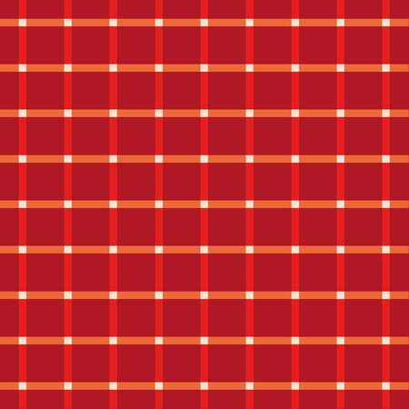 intersect: Seamless Red Coarse Checkered Plaid Fabric Pattern Texture Illustration