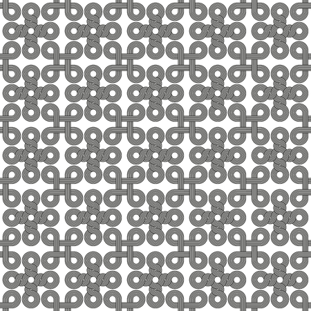 woven: Seamless Art Deco rope cord knot background texture pattern Illustration