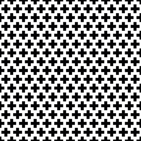 Seamless black and white Swiss Cross Shweizerkreuz pattern